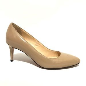 Cole Haan Pumps 7.5 B Low Heel Nude Patent Round A